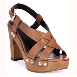 COACH ADESSA Calf Leather Platform Sandal